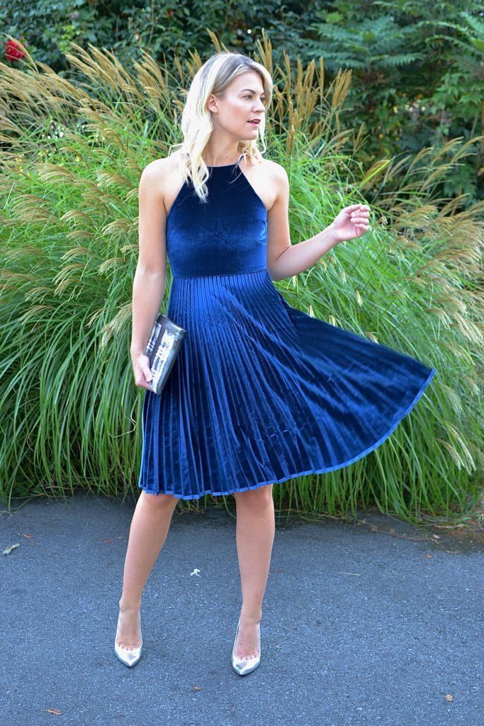 Velvet Fit Flare Dress
