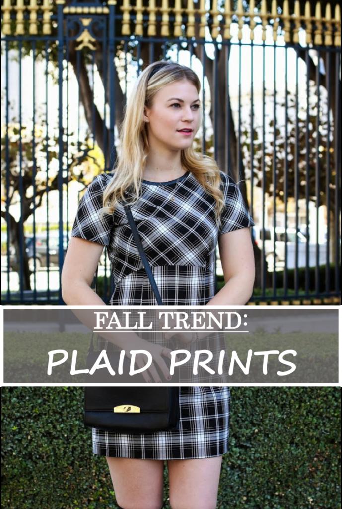 plaid print dress