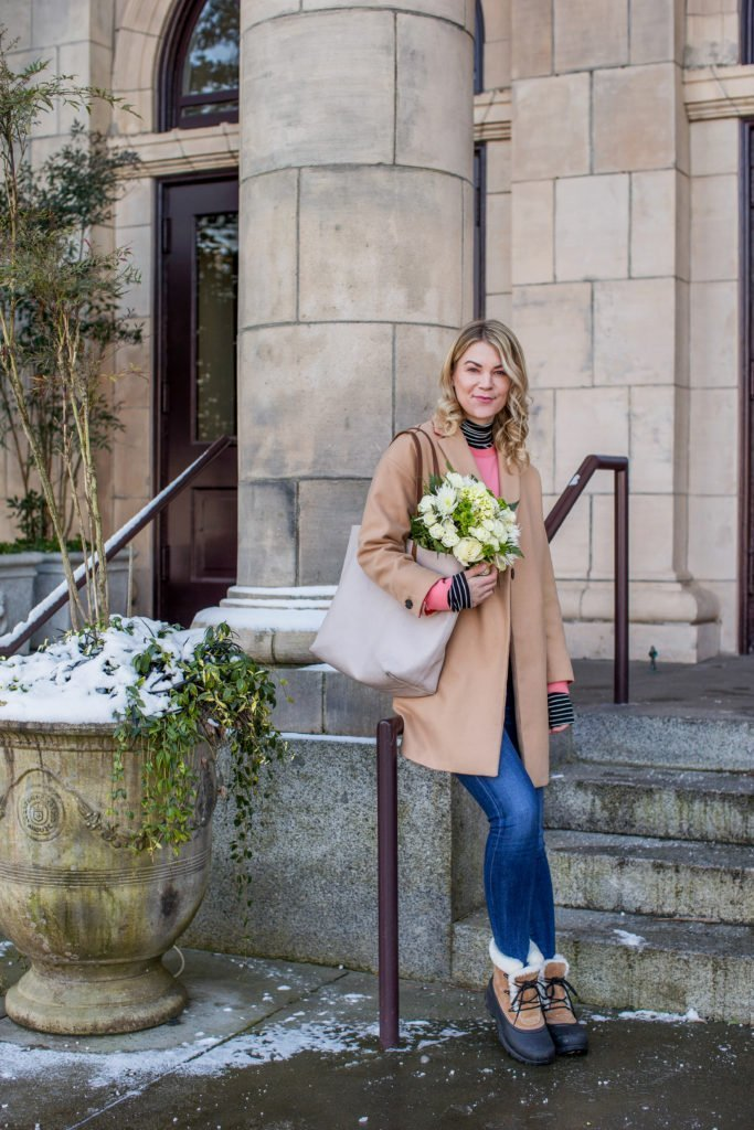 camel coat how to style