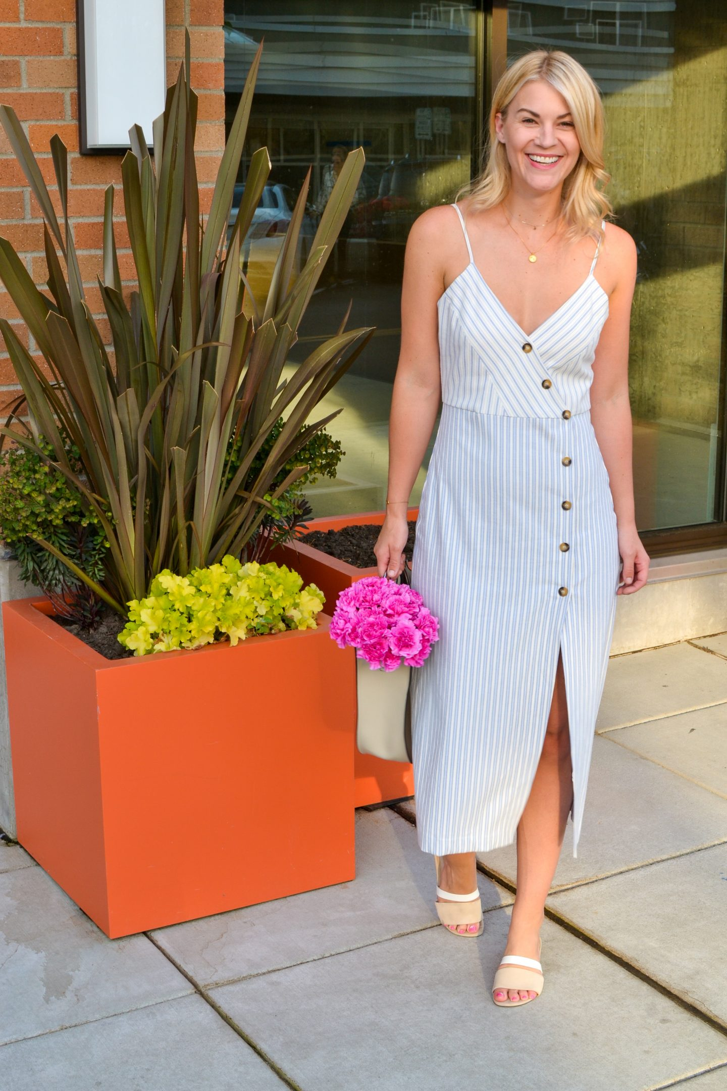 Summer Style: Striped Button-Down Dress