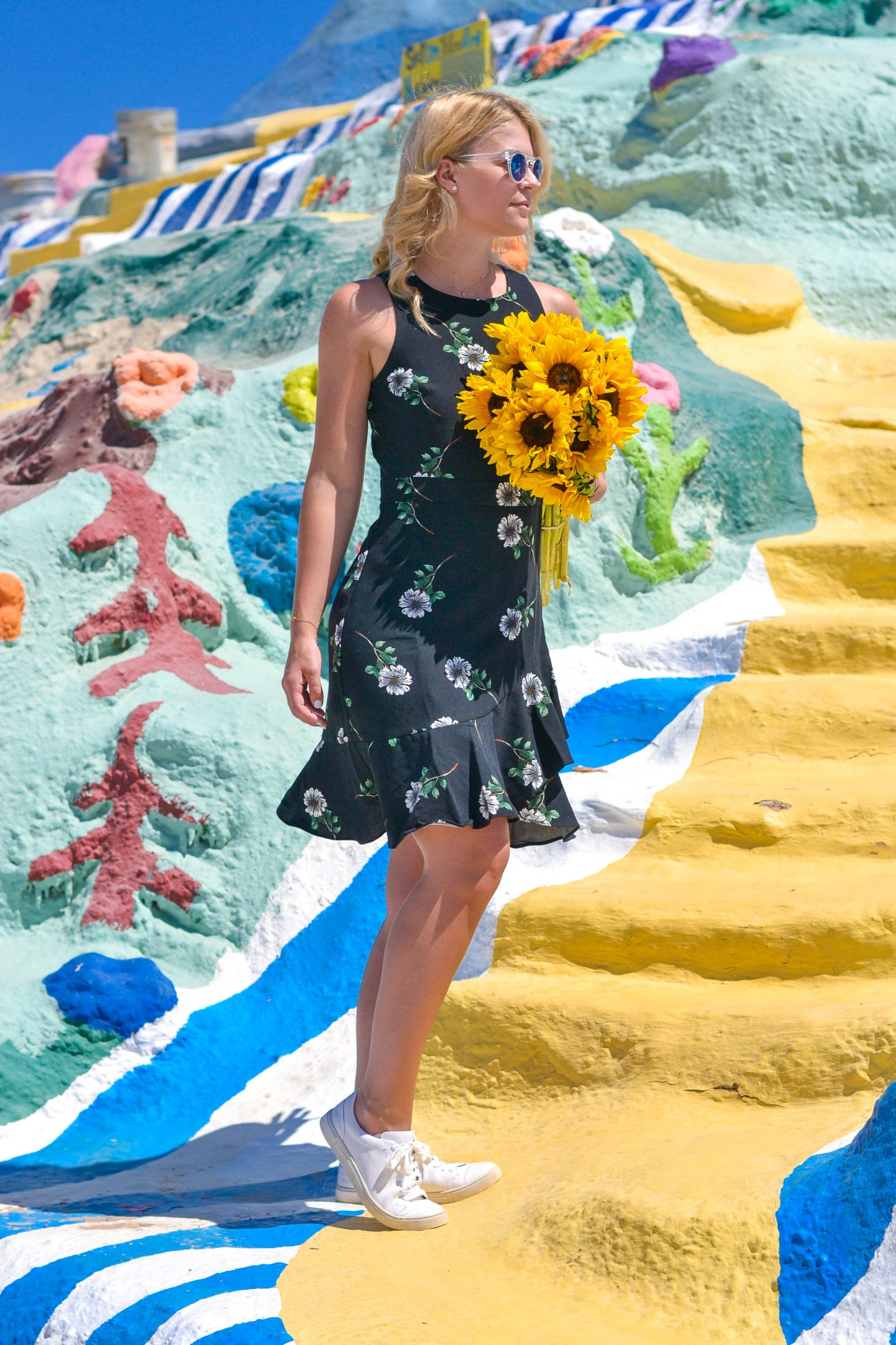 floral ruffle dress salvation mountain