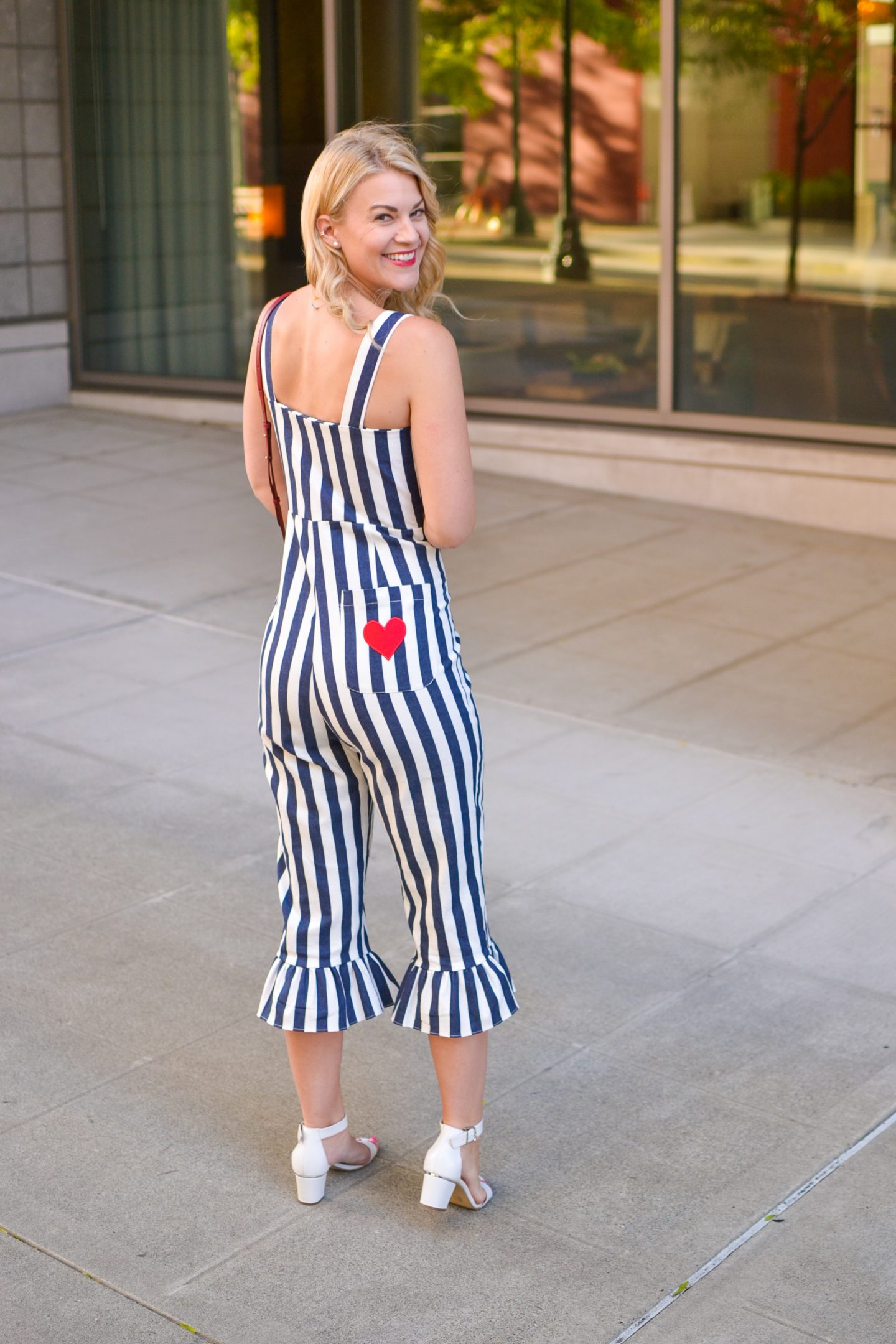 Jumpsuit with Ruffle Hem & Giveaway