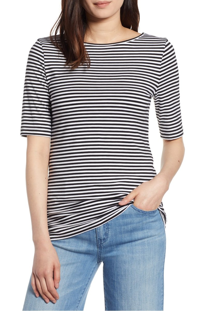 Halogen Striped Tee
