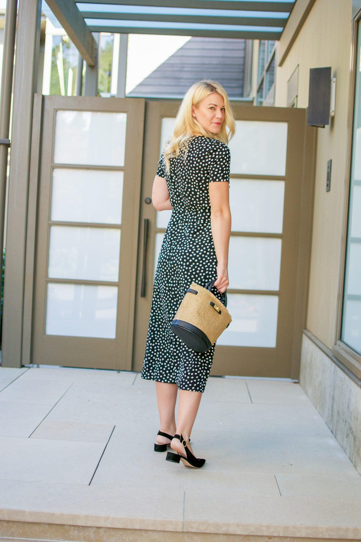 Nordstrom Anniversary Sale Arrivals: Print Midi Dress & Slingback Pumps