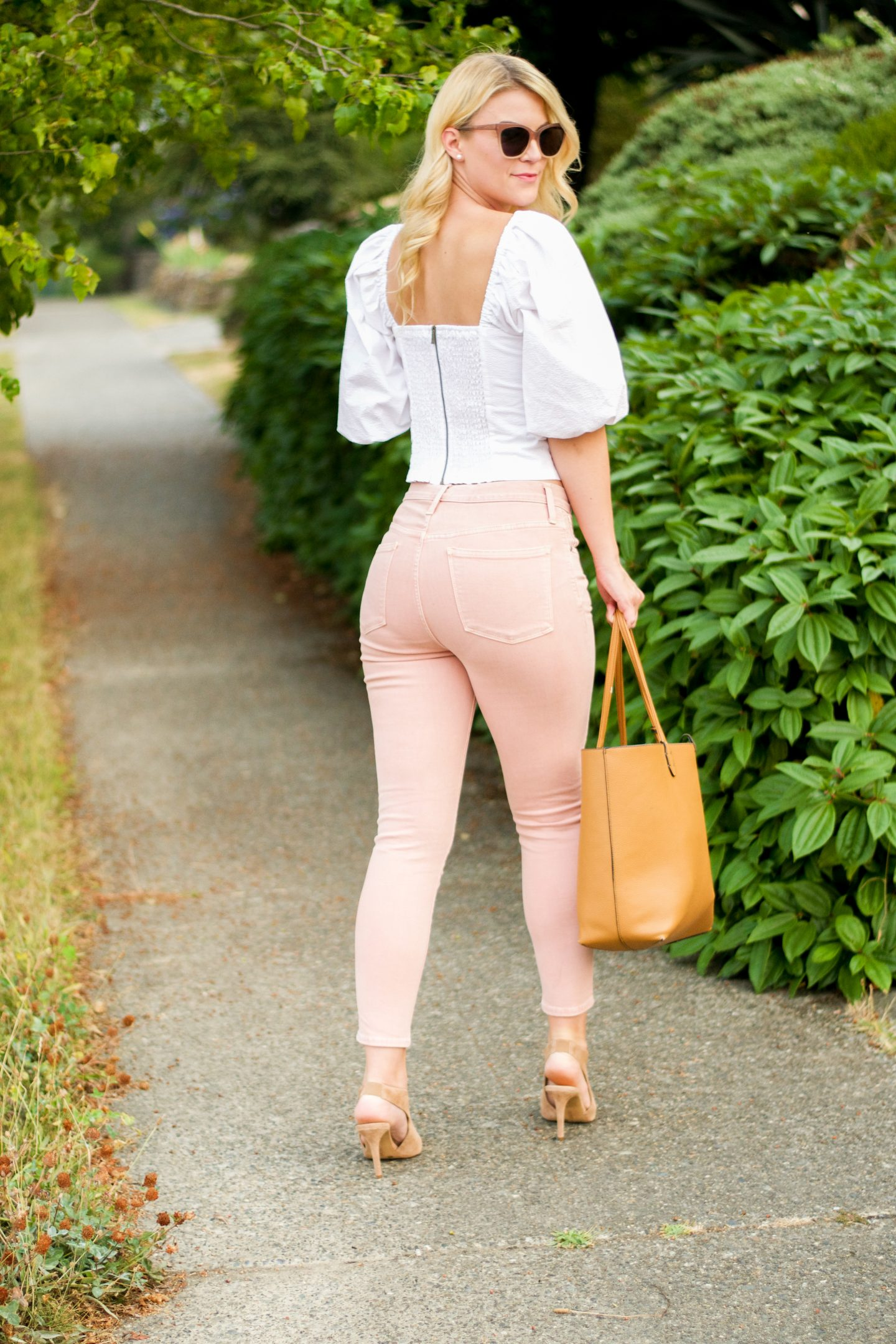 Puff Sleeves and Pink Pants
