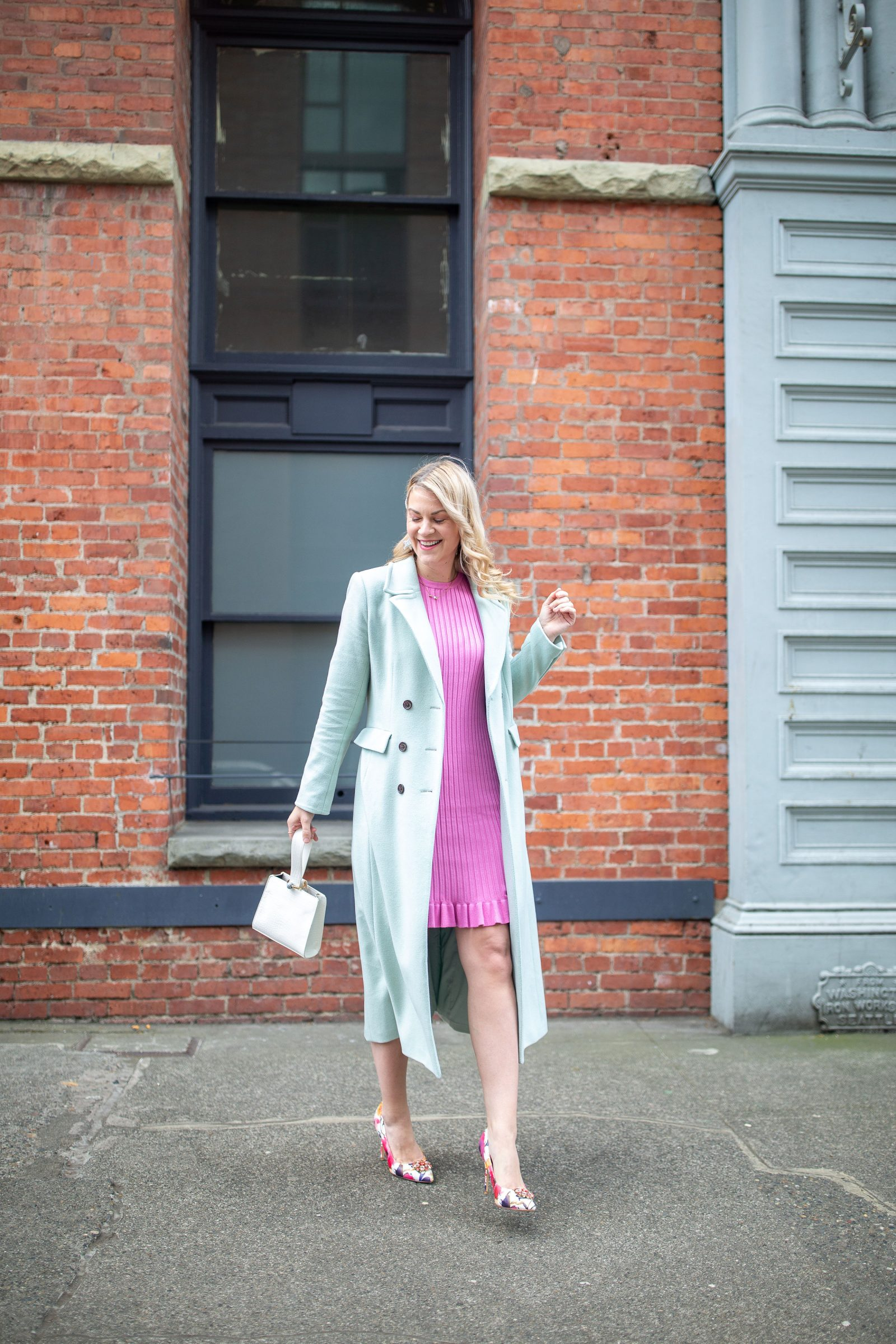 Spring Pastels: How to Wear Pink & Mint, styling tips featured by top Seattle tall fashion blogger, Whit Wanders