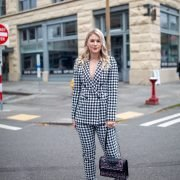 ASOS houndstooth suit styled by top Seattle tall fashion blogger, Whit Wanders.