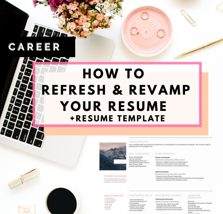 5 Tips To Refresh & Revamp Your Resume + Resume Template featured by top Seattle lifestyle blogger, Whit Wanders