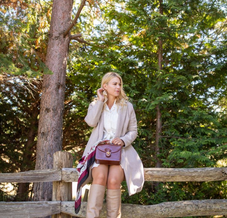 Nordstrom Fall Essentials: Neutral Coat & OTK Boots styled by top Seattle tall fashion blogger, Whit Wanders