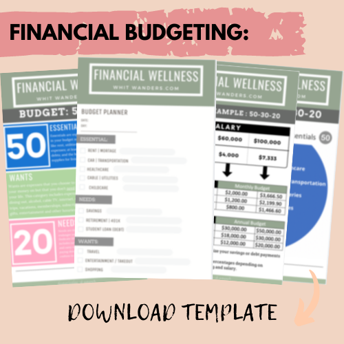 budget planning worksheet pdf