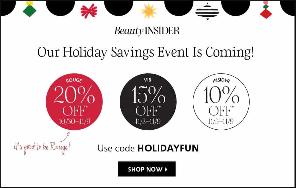 Sephora Beauty Insider Sale by popular Seattle beauty blog, Whit Wanders: image of a Sephora coupon code.